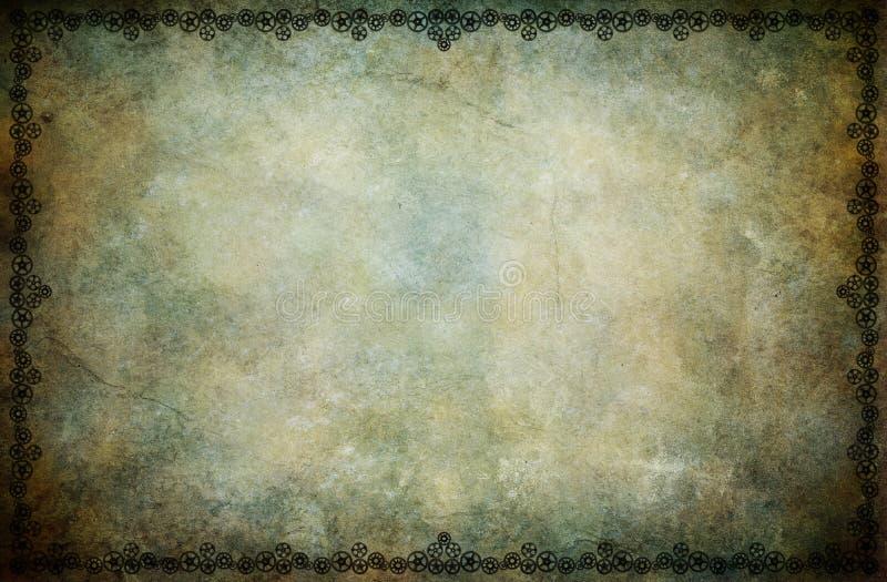 Steampunk Frame Background royalty free illustration