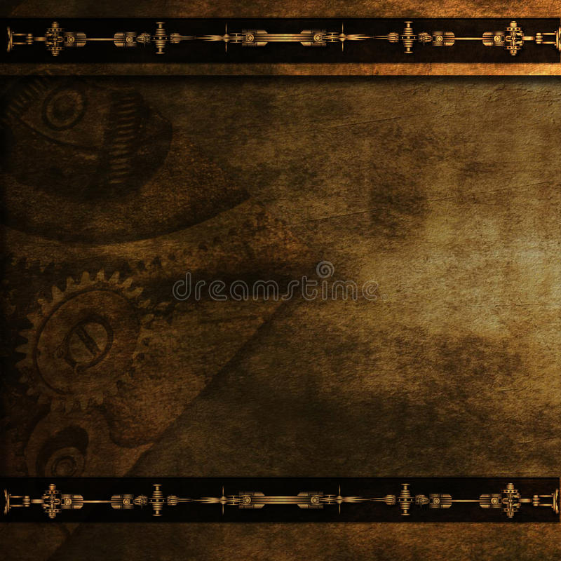 Steampunk gears wallpaper background royalty free stock images