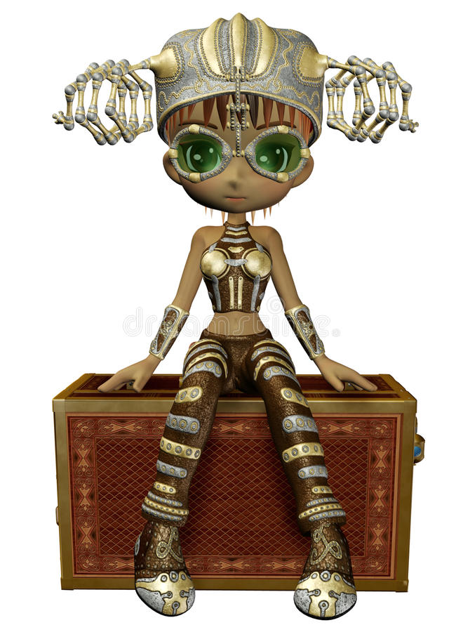 Download Steampunk girl 2 stock illustration. Image of fantasy - 17243595