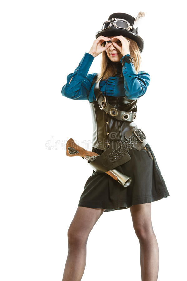 Steampunk Girl With Gun Stock Image Image Of Female 72419583