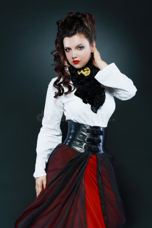Steampunk girl royalty free stock photography