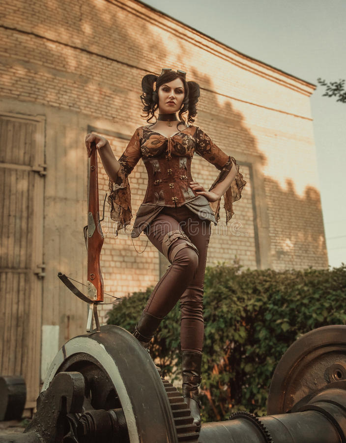 Steampunk girl stock images