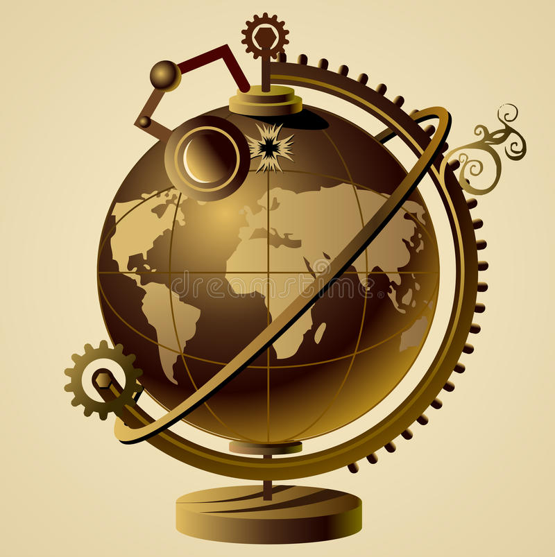 Steampunk Globe Royalty Free Stock Images - Image: 29072479