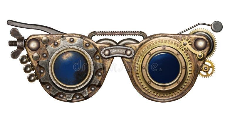 Steampunk goggles royaltyfri foto
