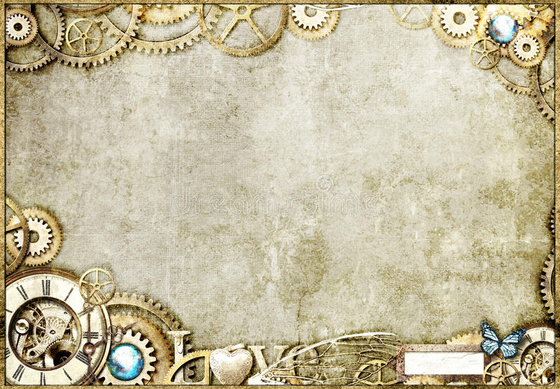 Steampunk Gold Desktop royalty free stock images