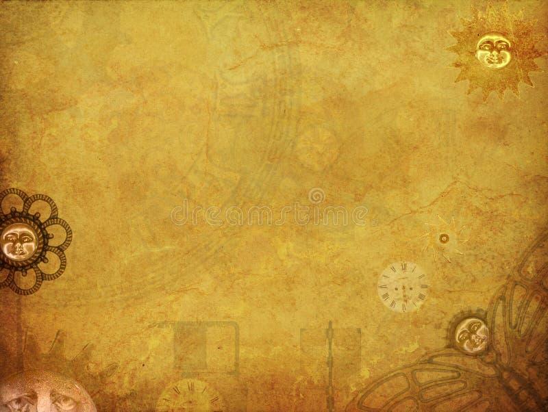Steampunk gräns vektor illustrationer