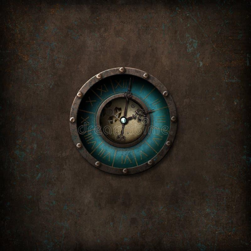 Steampunk Grunge Clock royalty free illustration