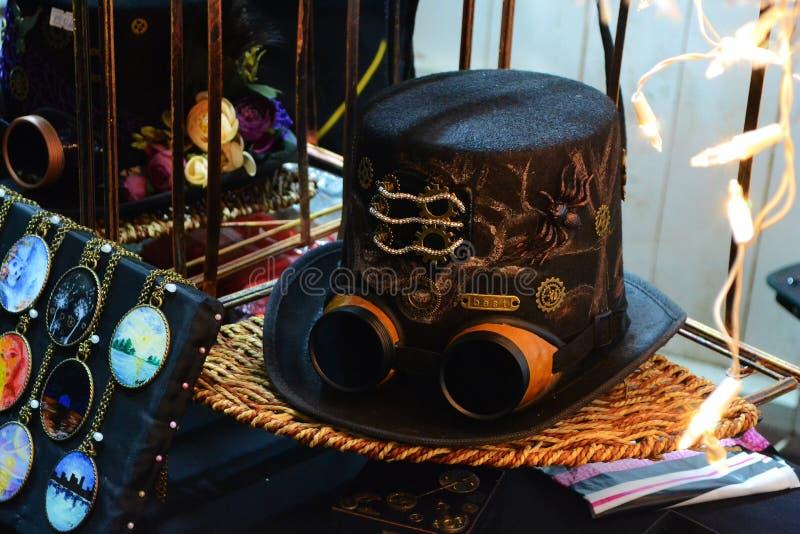Steampunk hatt arkivfoto