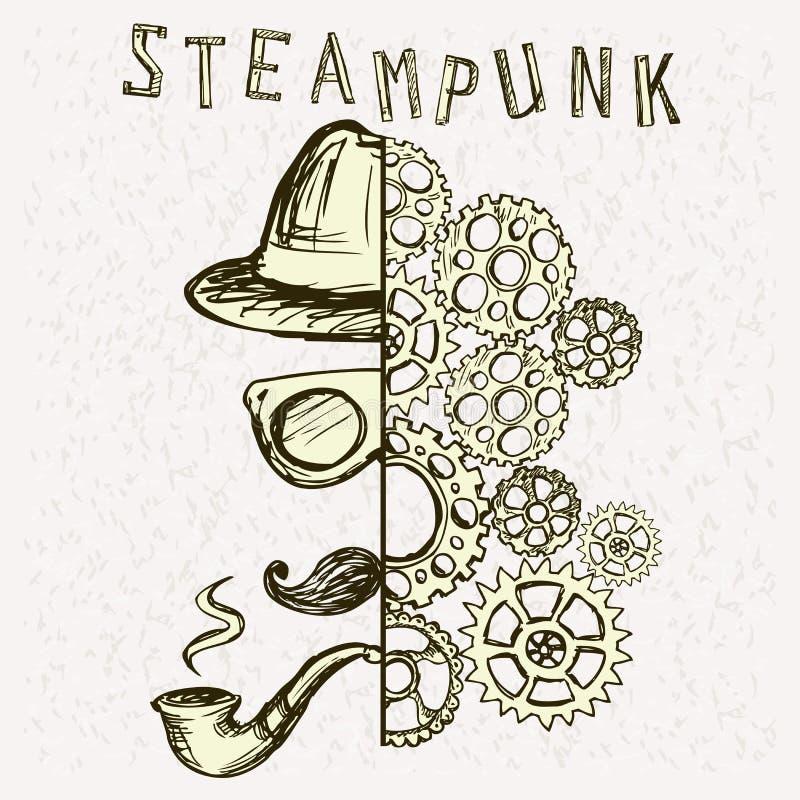Steampunk Hintergrund vektor abbildung