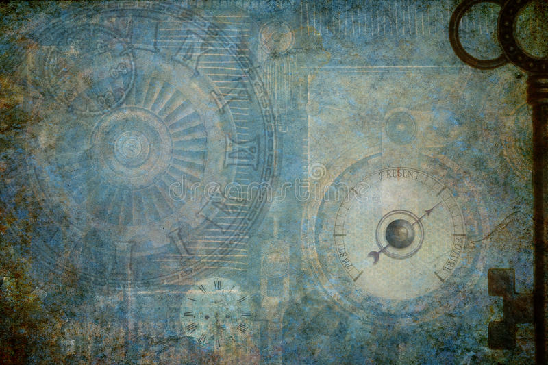 Steampunk Machine Background. Steampunk grunge textured background incorporating steampunk and machine elements stock image