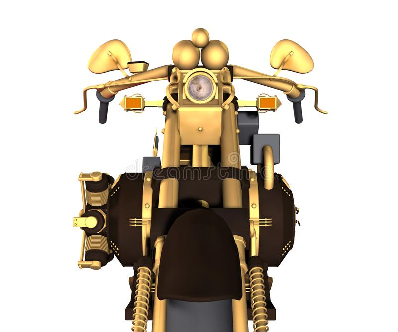 Steampunk inspirou o velomotor imagem de stock royalty free