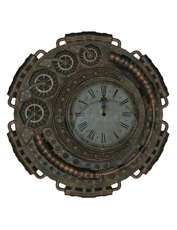Steampunk klocka royaltyfri foto