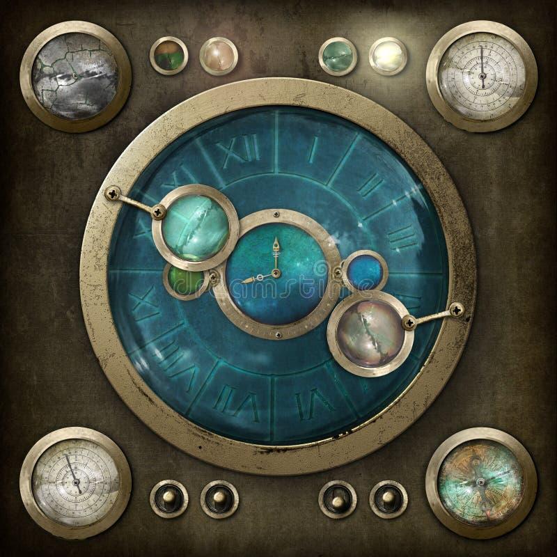 Steampunk kontrollbräde vektor illustrationer