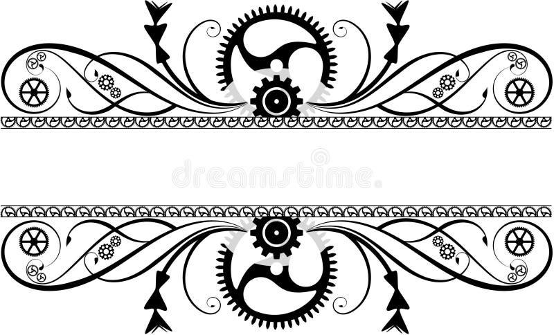 Steampunk krusidull royaltyfri illustrationer