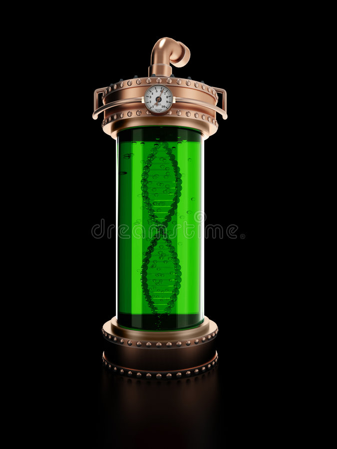Download Steampunk Laboratory Bottle Stock Illustration - Image: 9285800