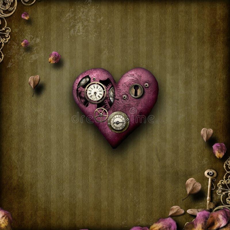 Steampunk Liebe lizenzfreies stockbild