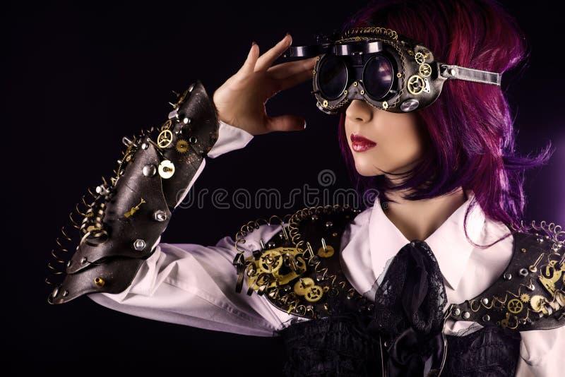 Steampunk-Mädchen stockbild