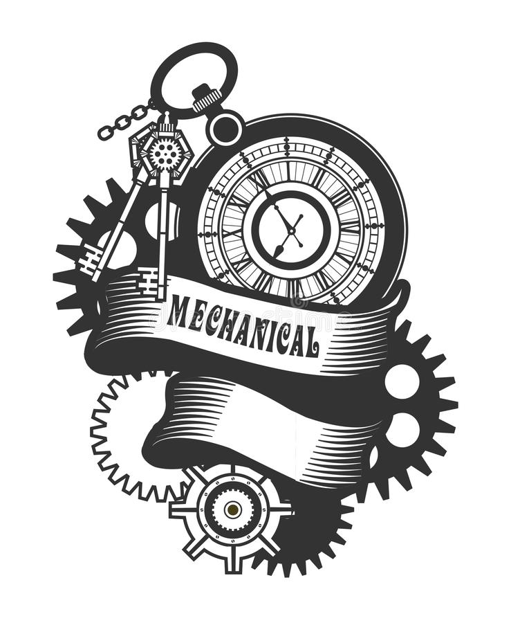 Steampunk mechanism stock vector. Illustration of ...