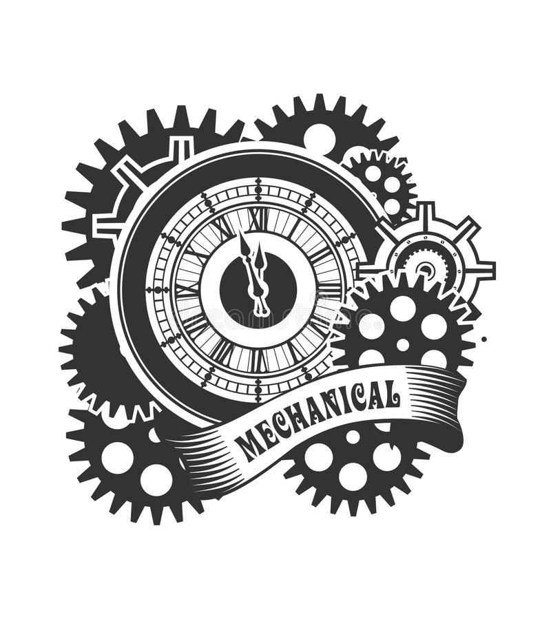 Steampunk mechanism stock vector. Illustration of icon ...