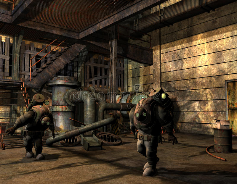 Download Steampunk Men In Protective Suit Royalty Free Stock Photography - Image: 26790997