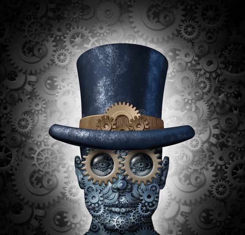 Steampunk nauki fikcja ilustracja wektor