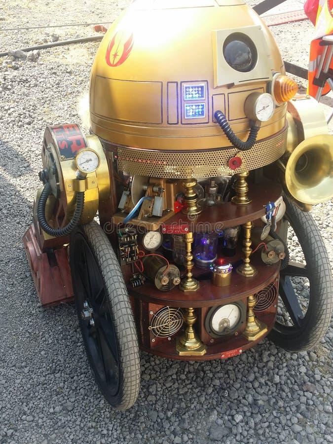 Steampunk R2-D2 stock foto