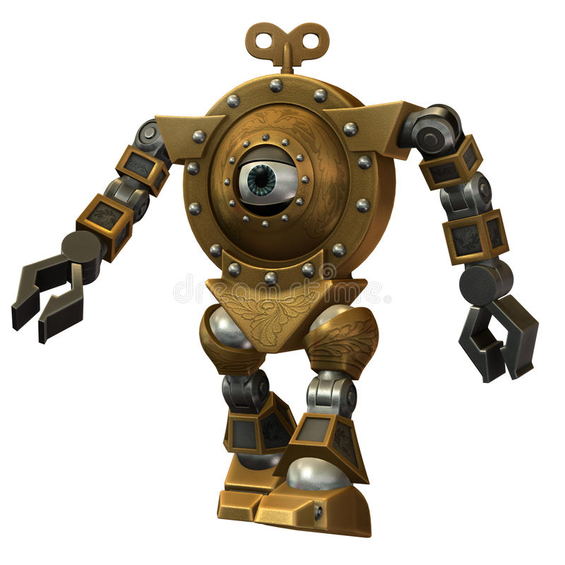 Steampunk robot royalty free illustration