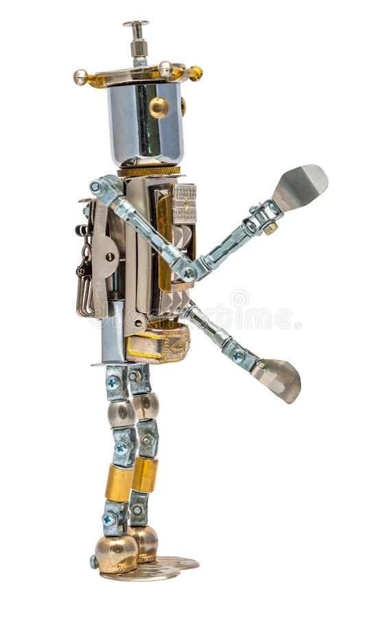 Steampunk robot. royalty free stock photography