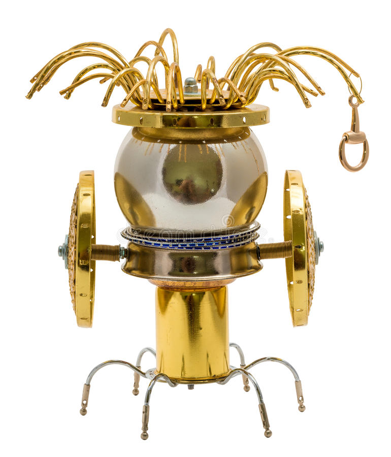 Steampunk robot. royalty free stock image