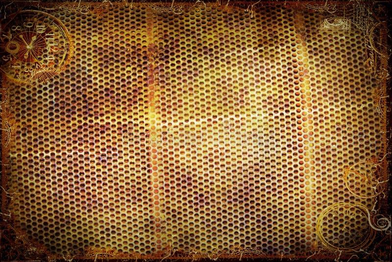 Steampunk stålbakgrund royaltyfria bilder