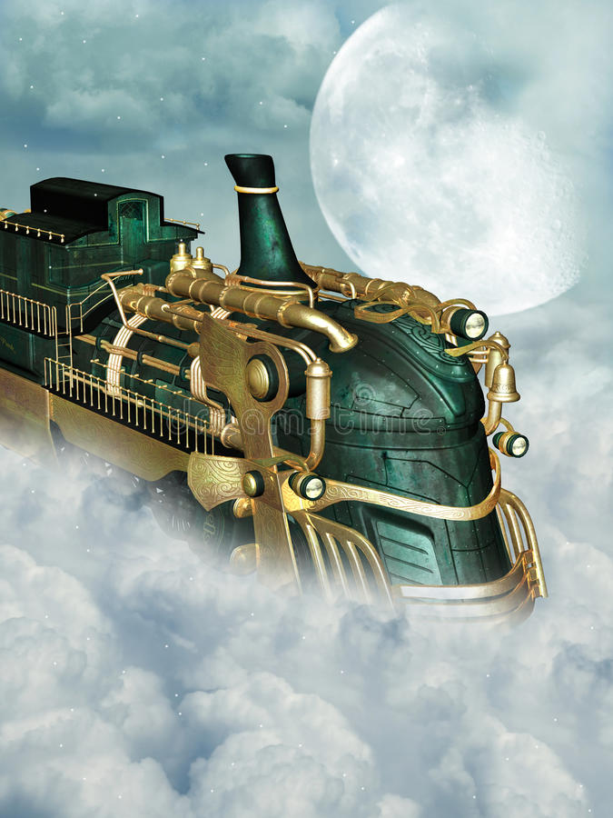 Steampunk style royalty free illustration