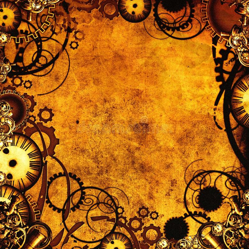 Steampunk texture royalty free illustration