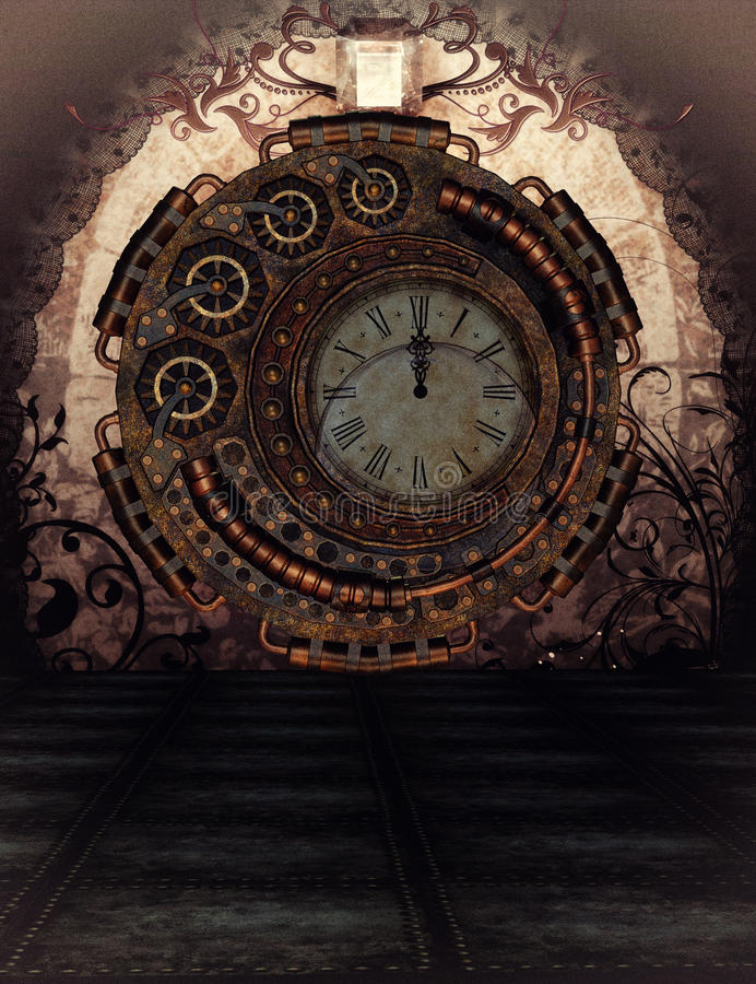 Steampunk time stock illustration