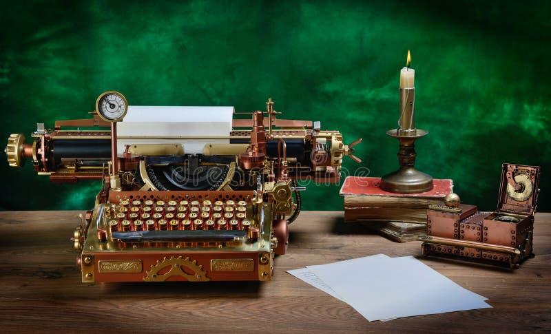 Steampunk Typewriter. royalty free stock images