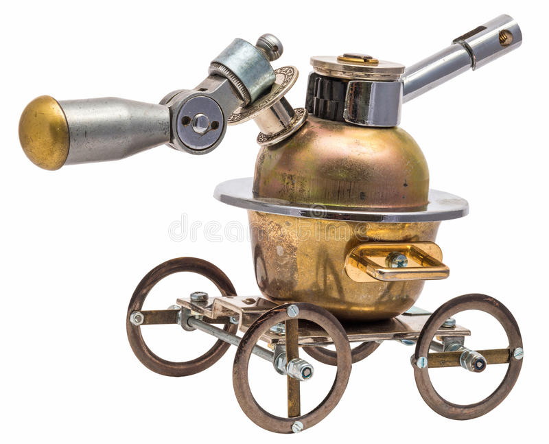 Steampunk vehicle. stock image