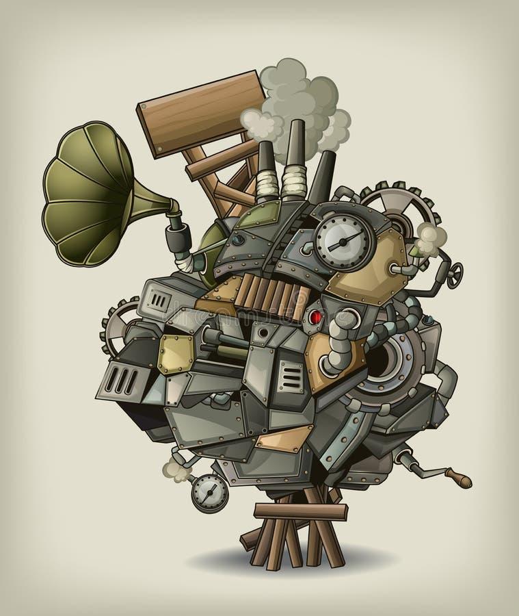Steampunk Vorrichtung lizenzfreie abbildung
