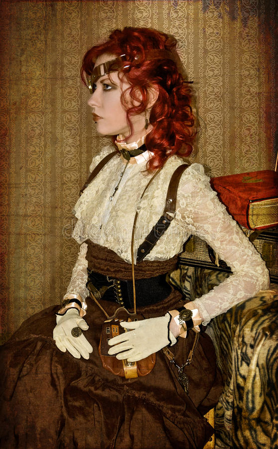 Steampunk Wiktoriański Dziewczyna obraz stock