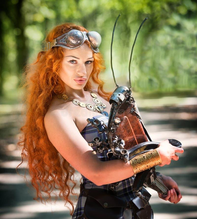 Steampunk woman royalty free stock photos