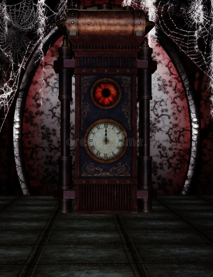 Steampunk zegar royalty ilustracja