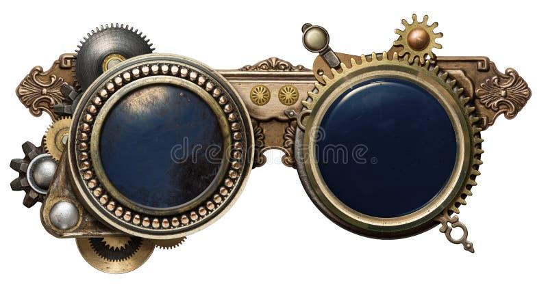 Steampunkglazen stock fotografie