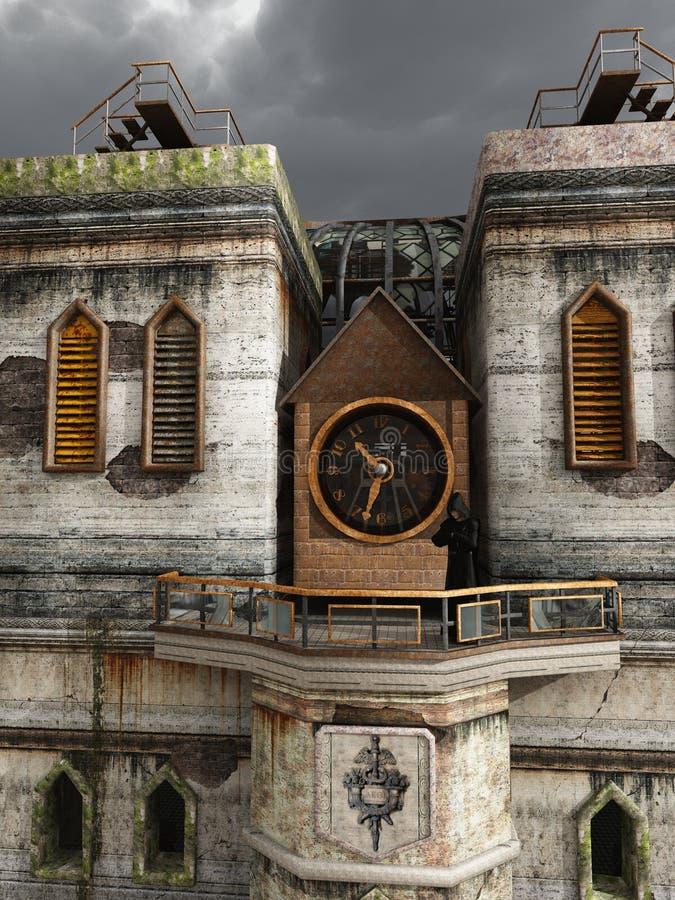 Steampunkkathedraal royalty-vrije illustratie