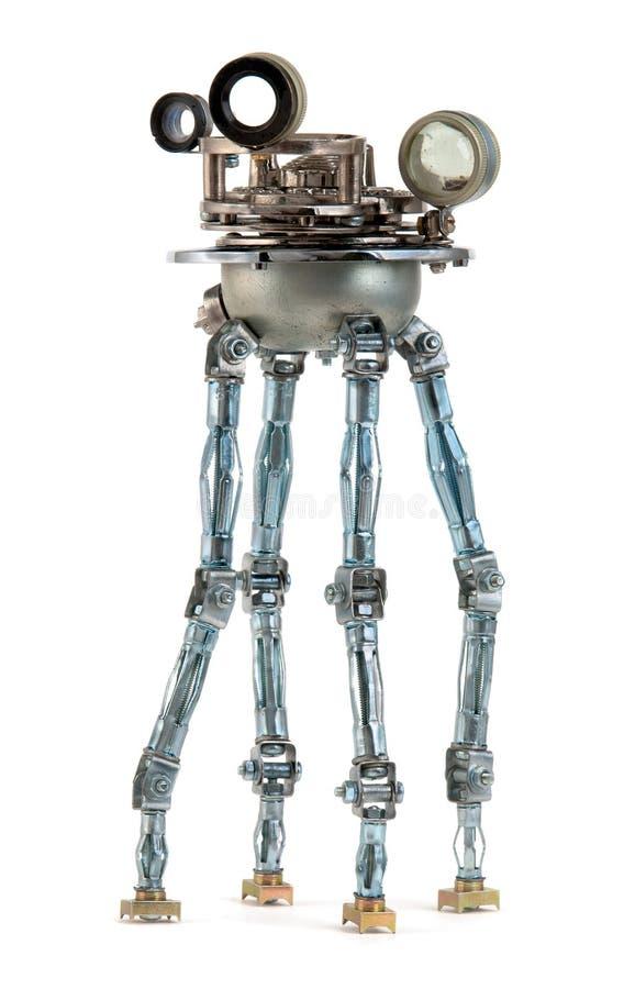 Steampunkrobot royalty-vrije stock afbeelding