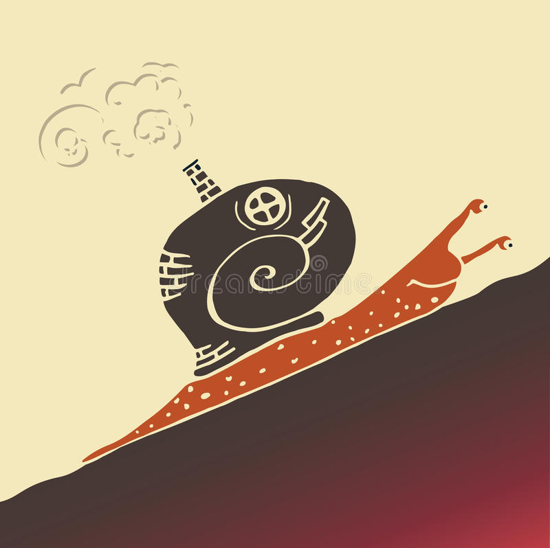 Steampunkslak vector illustratie