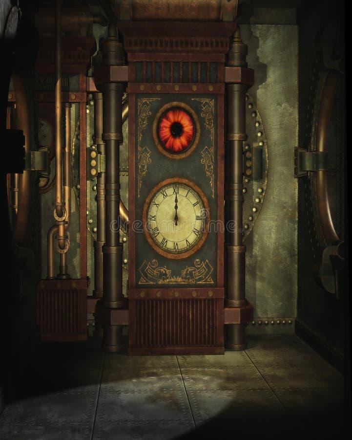 Steampunkuurwerk royalty-vrije illustratie