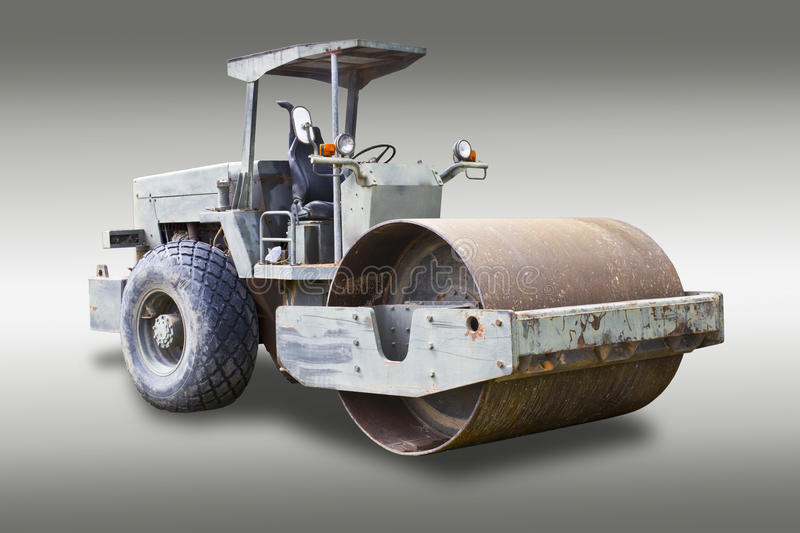 Steamroller isolated with clipping path royalty free stock images