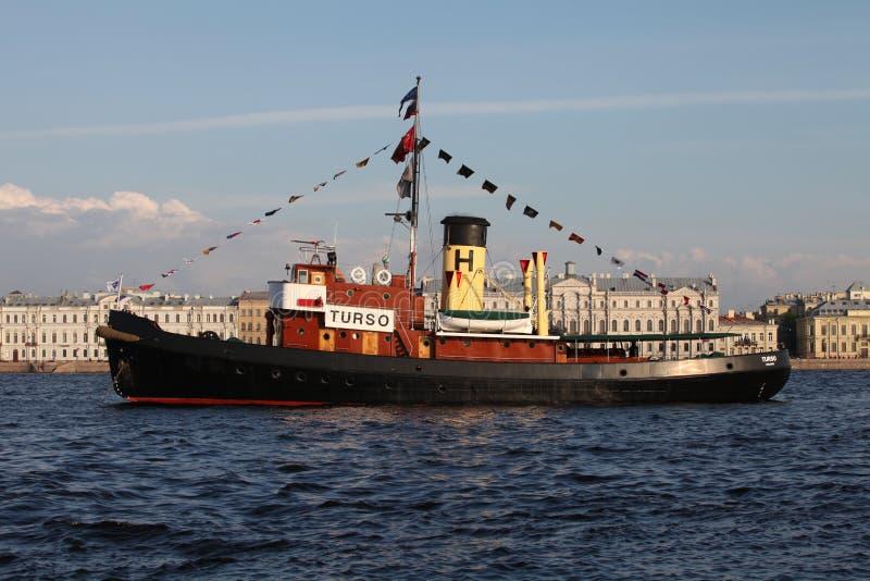 Steamship imagem de stock