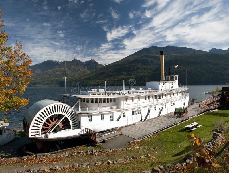 Steamship SS Moyie stock photos