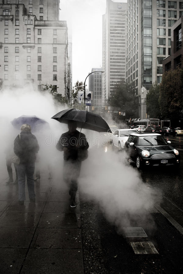 Steamy Vancouver royalty free stock photos