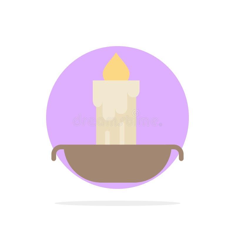 Stearinljus brand, påsk, för abstrakt symbol för färg cirkelbakgrund för ferie plan stock illustrationer