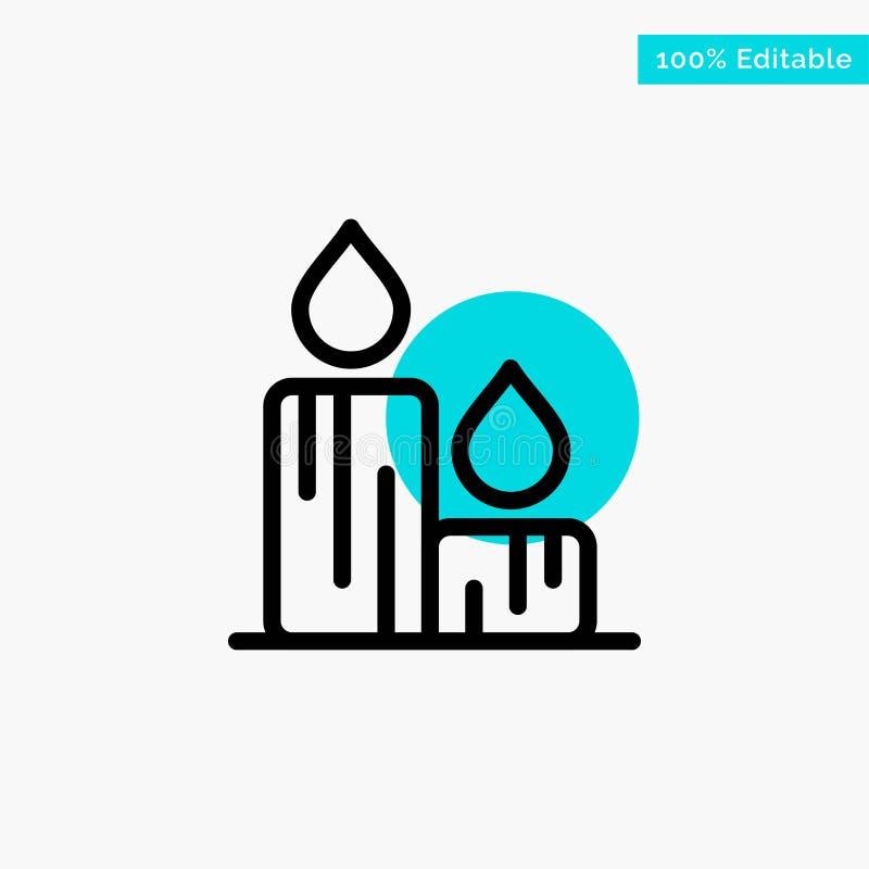Stearinljus brand, påsk, symbol för vektor för punkt för cirkel för naturturkosviktig stock illustrationer